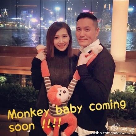 今年二月,關家姐喺微博公佈懷有猴B。