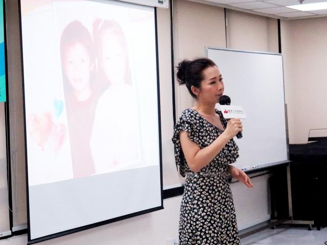 2018年7月14日 蘋果日報(即時娛樂)善心人到處有成立基金會教唱歌 關心妍孖老公親力親為 c