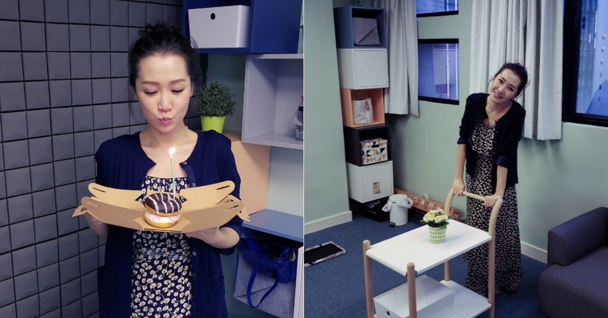 2018年7月31日 明周娛樂 音樂學院開幕賀牛一 關心妍裝修執垃圾一腳踢c