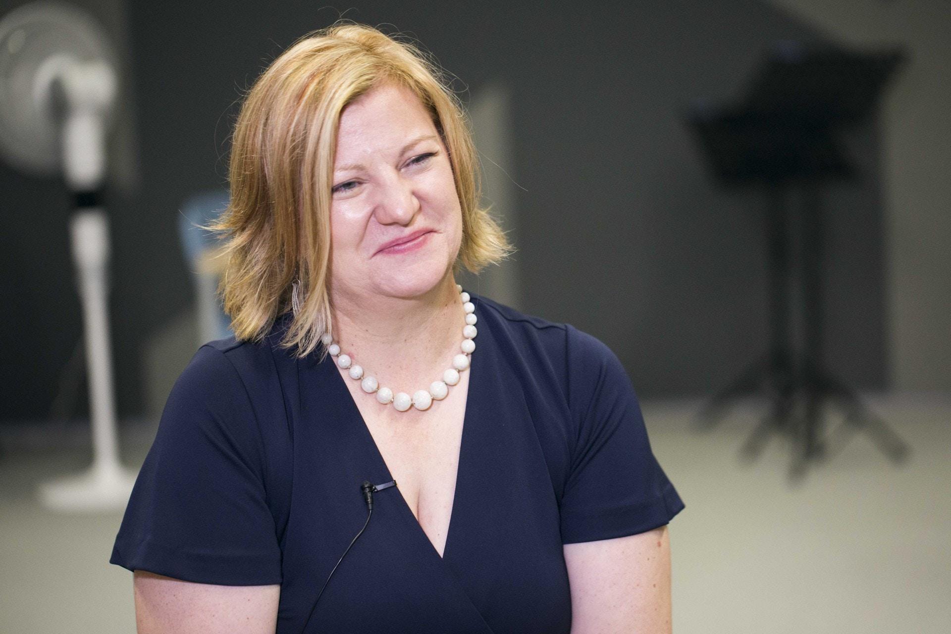 美國奧格斯堡大學,音樂治療系主任/副教授Dr.Annie Heiderscheit。(黃寶瑩攝)