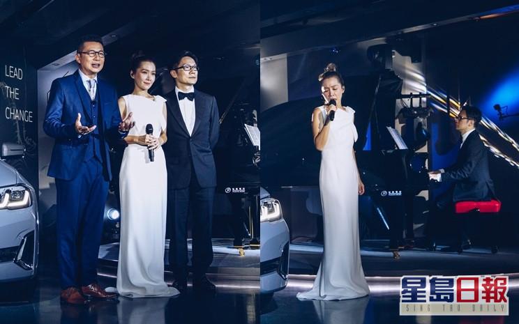 關心妍指鄭子誠的聲調、趙增熹的演奏都令她投入演唱當中。