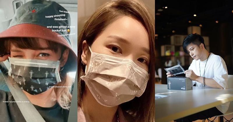 徐㴓喬(左起)、李亞男和張彥博都有戴該款口罩。(大會提供)