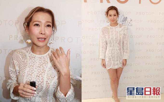 關心妍自從主持網上清談節目後,笑言現時說話多過唱歌。